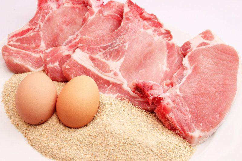 яйца с мясом