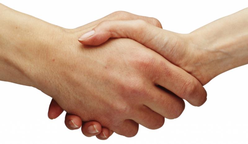 пожатие руки