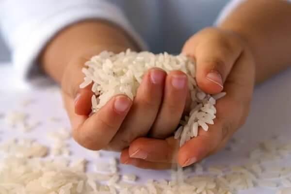 правила очистки рисом