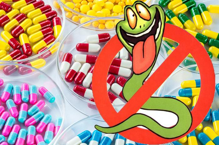 действие лекарств на гельминтов
