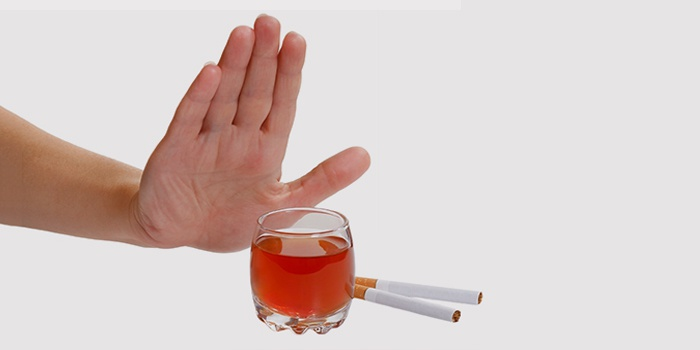 отказа от спиртного и курения