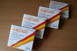 «Немозол» для профилактики гельминтоза