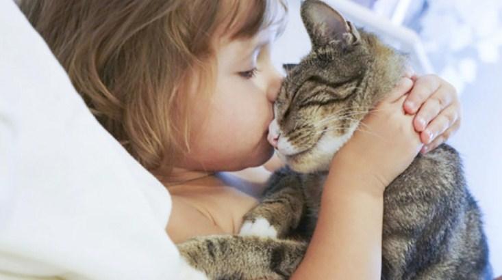девочка с котом