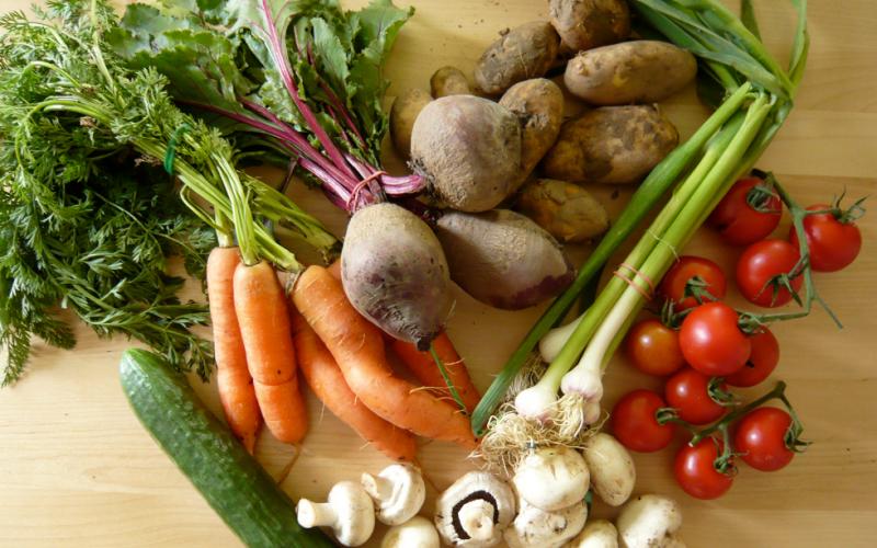 немытые овощи