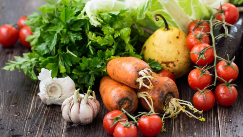 немытые овощи и фрукты