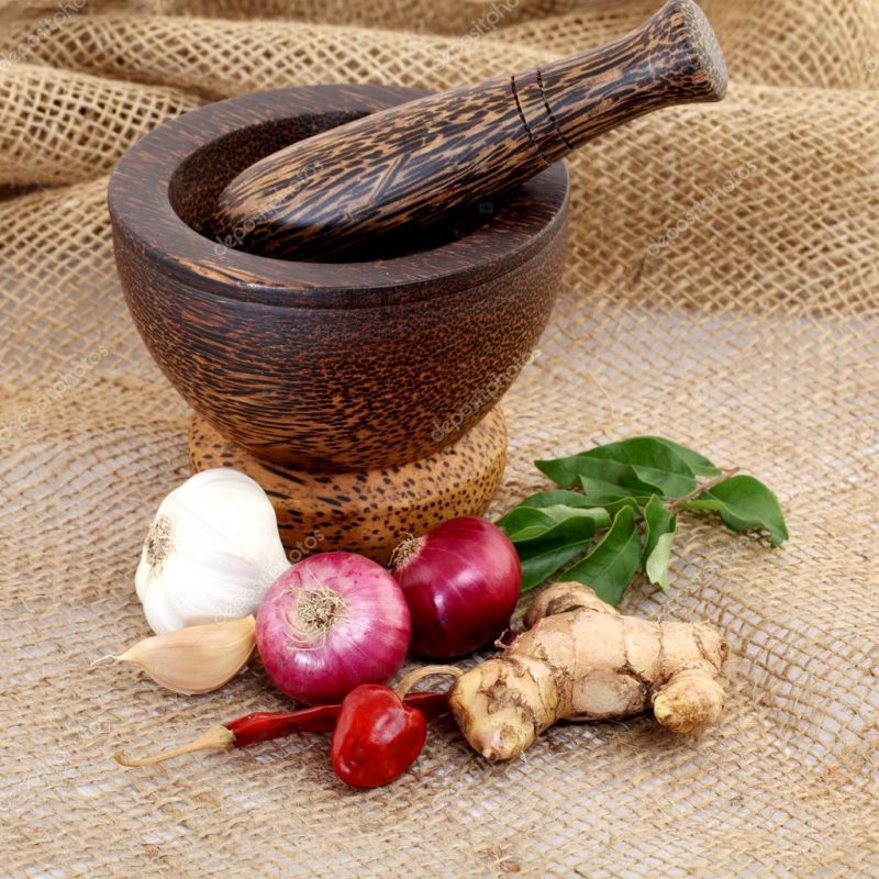Имбирь, чеснок и перец
