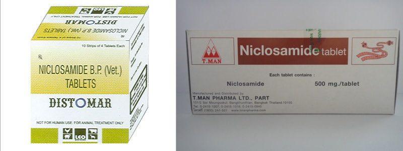 формы упаковки Никлозамида